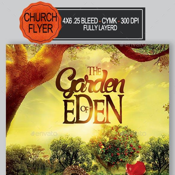 The Garden Of Eden Church Flyer