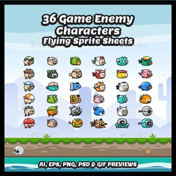 36 Flying Enemy Characters