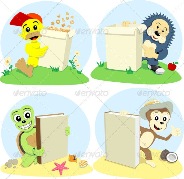 Cartoon Animals Represent - Animals Characters
