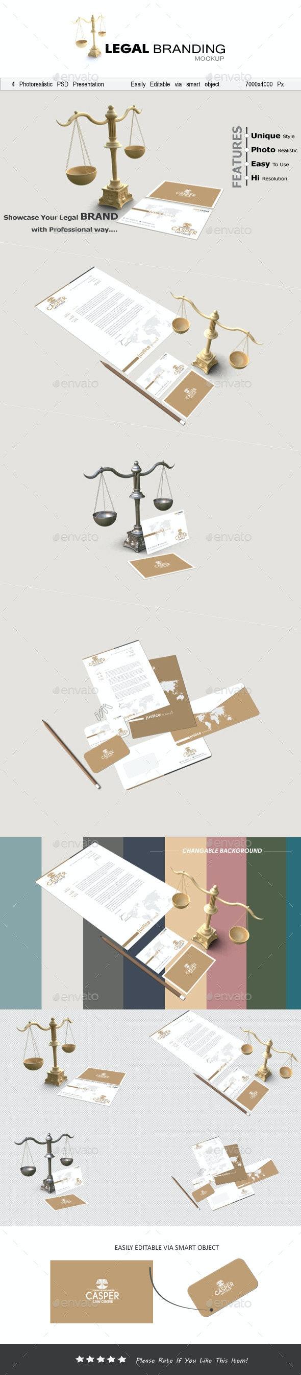 Legal Branding Mockup - Stationery Print