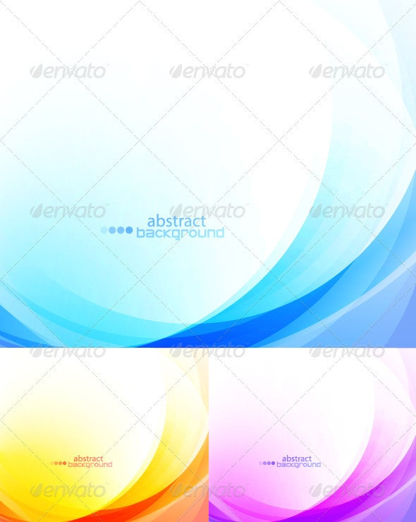 Abstract backgrounds. Color waves - Abstract Conceptual