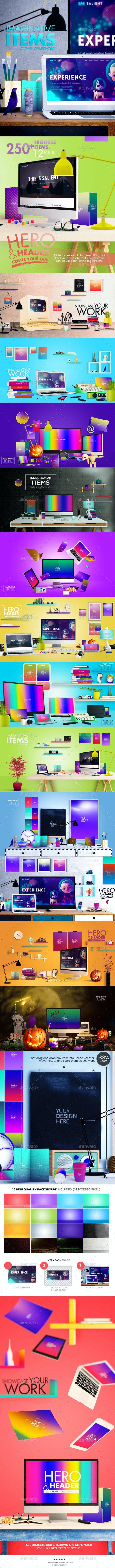 Imaginative Items Scene Generator - Hero Images Graphics