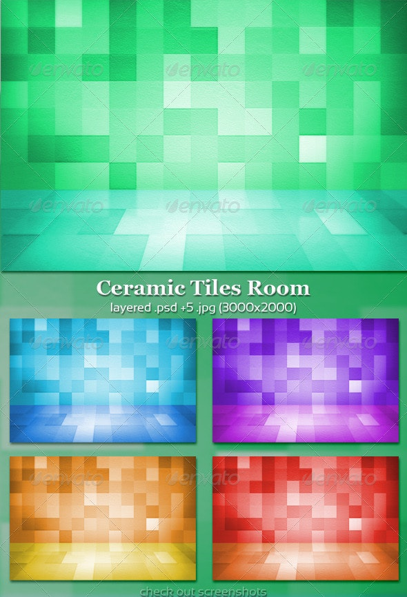 Ceramic Tiles Room - 3D Backgrounds