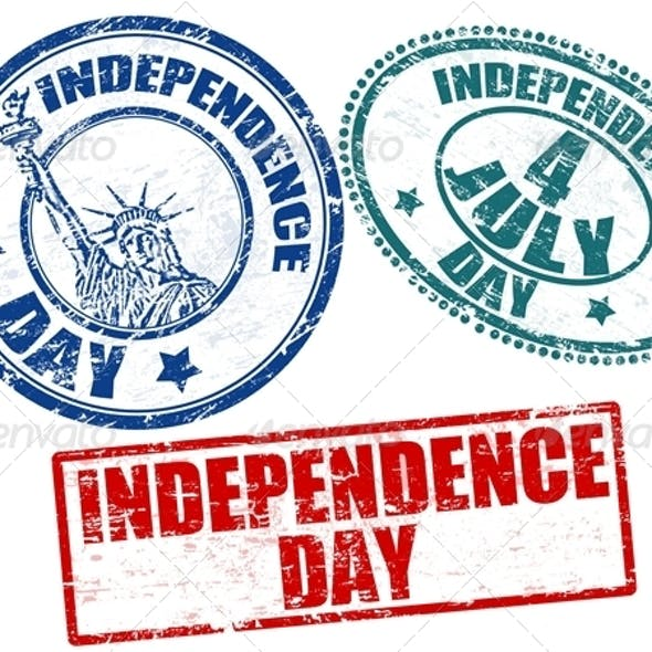 Independence Day stamps