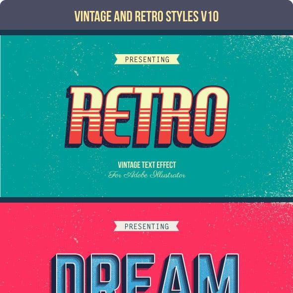 Vintage and Retro Styles V10