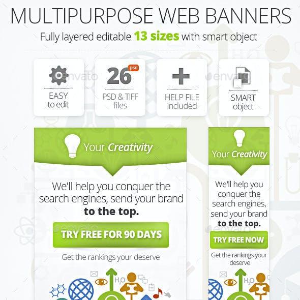 Multipurpose SEO Web Banners