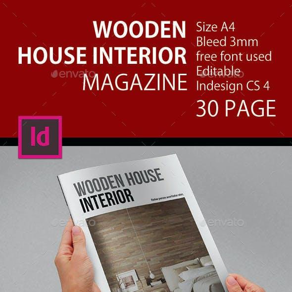 A4 Wooden House Interior Magazine
