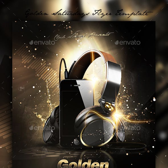 Golden Saturdays Flyer Template