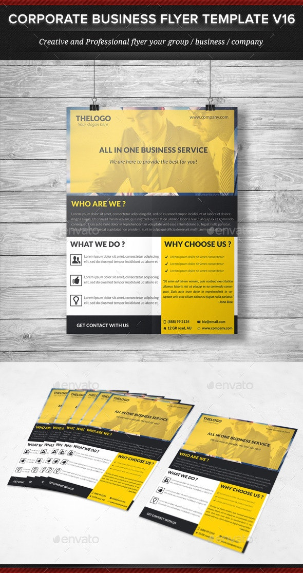 Corporate Business Flyer Template V16 - Corporate Flyers