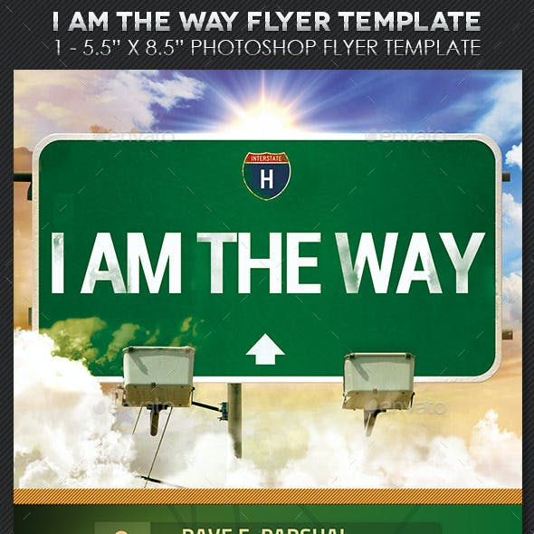 Way Church Flyer Postcard Template