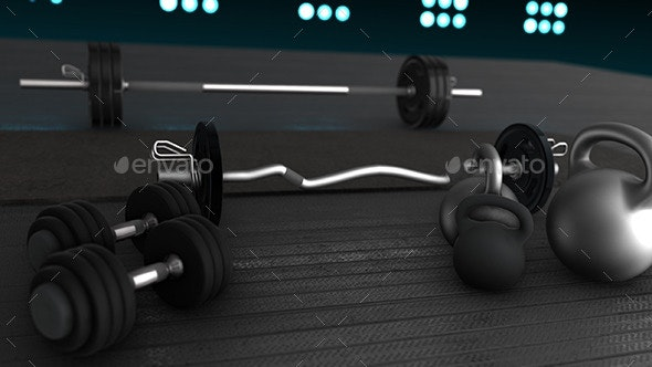 Weightlifting Set 3D Renders - 3D Backgrounds
