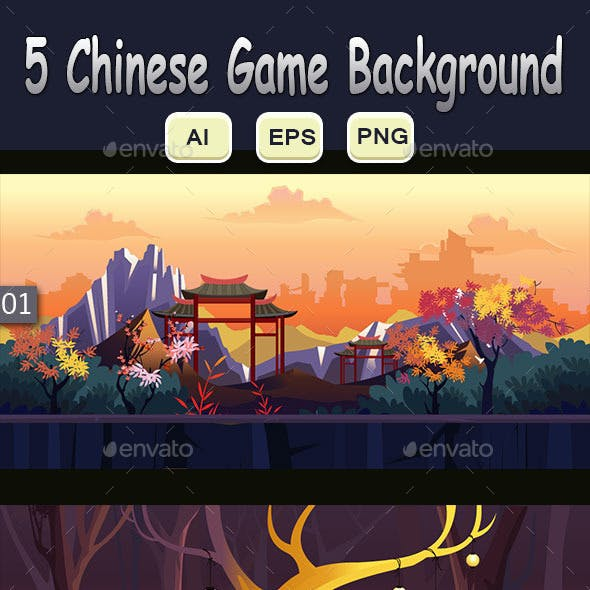 5 Chinese  Game Background