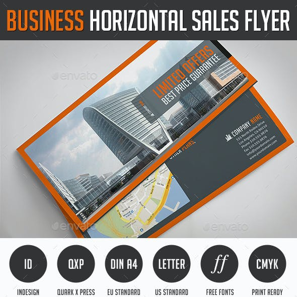 Business Horizontal Sales Flyer