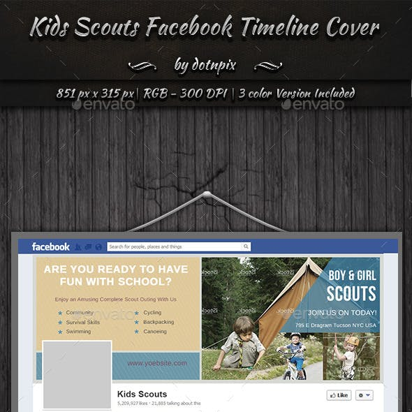 Kids Scouts Facebook Timeline Cover