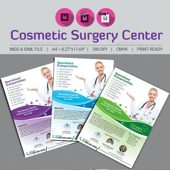 Cosmetic Surgery Center Flyer Template