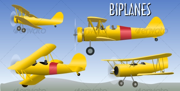 Biplanes - Man-made Objects Objects