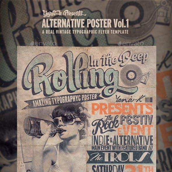 Alternative Flyer/Poster Vol.1 (Typography)