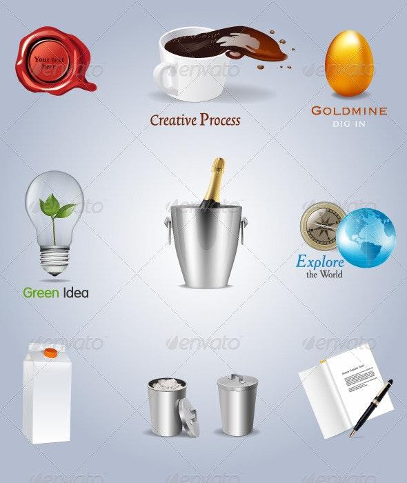 Concept icons set. vector - Conceptual Vectors