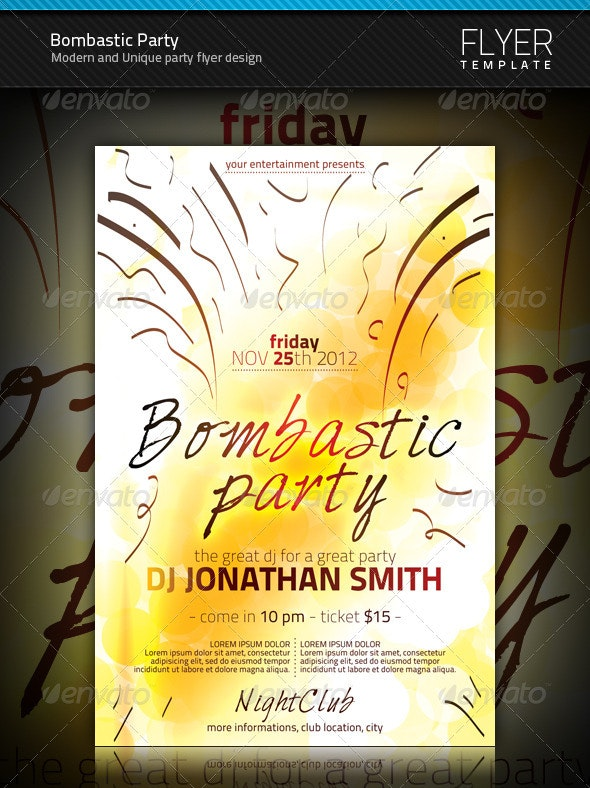 Bombastic Party Flyer - Clubs & Parties Events