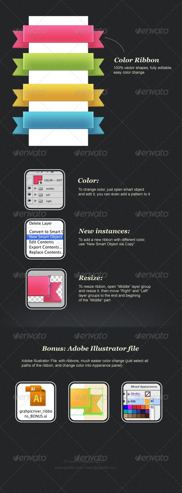 Color Ribbon - Miscellaneous Web Elements