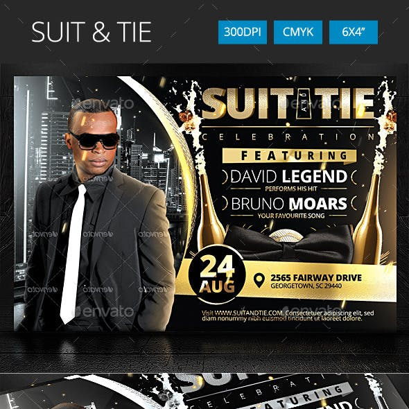 Suit and Tie Party Flyer v2