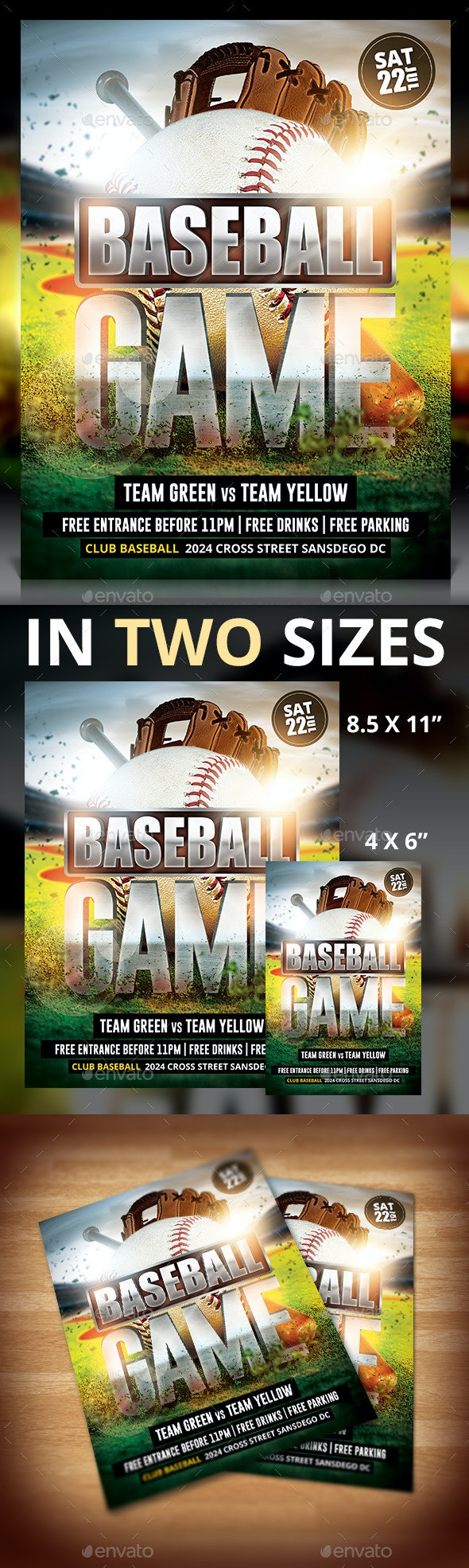 Baseball Game Flyer - Sports Events