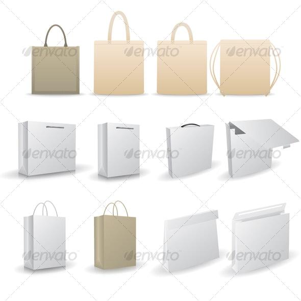 VECTOR BAG PACKAGING - Commercial / Shopping Conceptual
