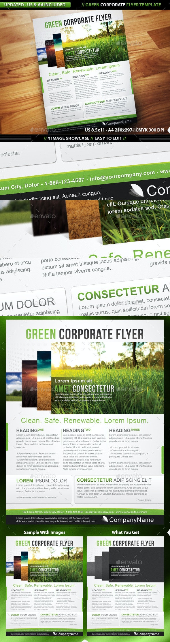 Green Corporate Flyer Template - Corporate Flyers