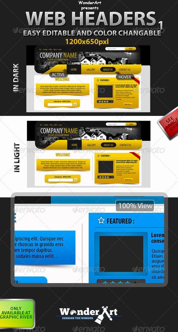 Web Header-1 - Miscellaneous Web Elements