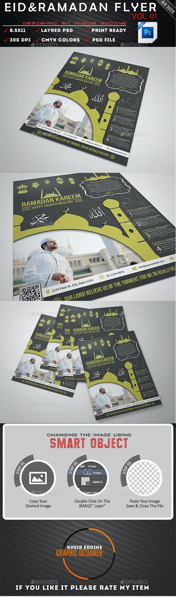 Ramadan & Eid Flyer Vol 01 - Flyers Print Templates