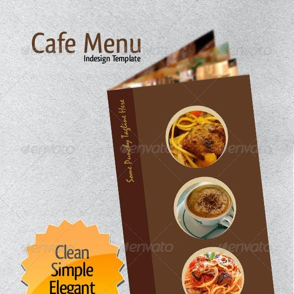 Cafe Menu Indesign Template