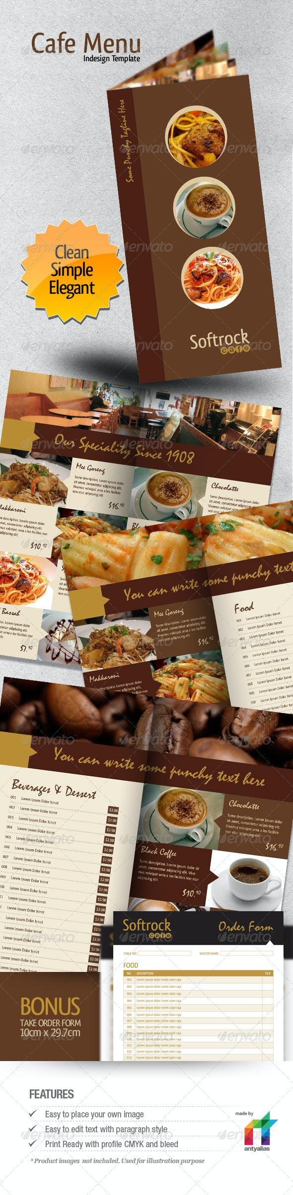 Cafe Menu Indesign Template - Food Menus Print Templates