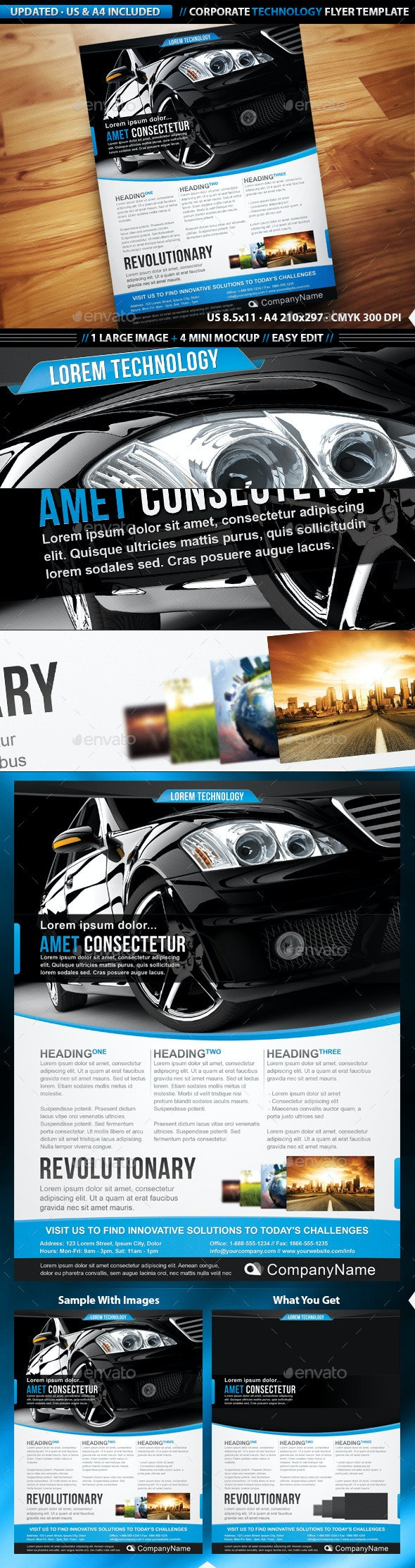 Corporate Technology Flyer Template - Corporate Flyers