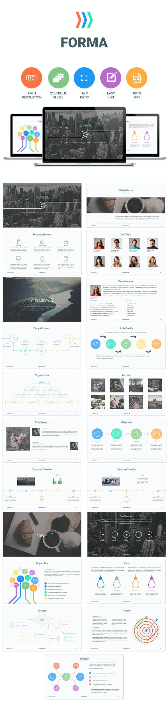 Forma - Business PowerPoint Templates
