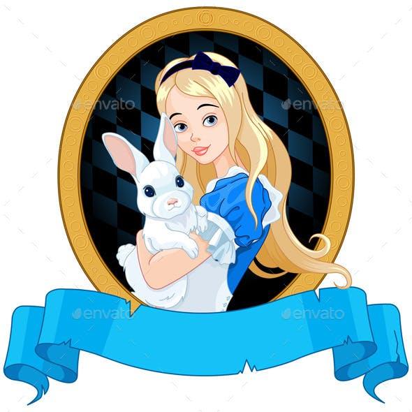 Alice with White Rabbit