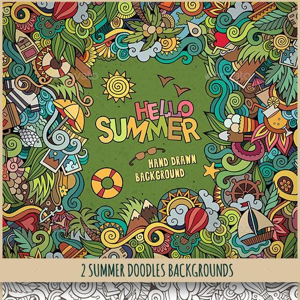 2 Summer Doodles Frames