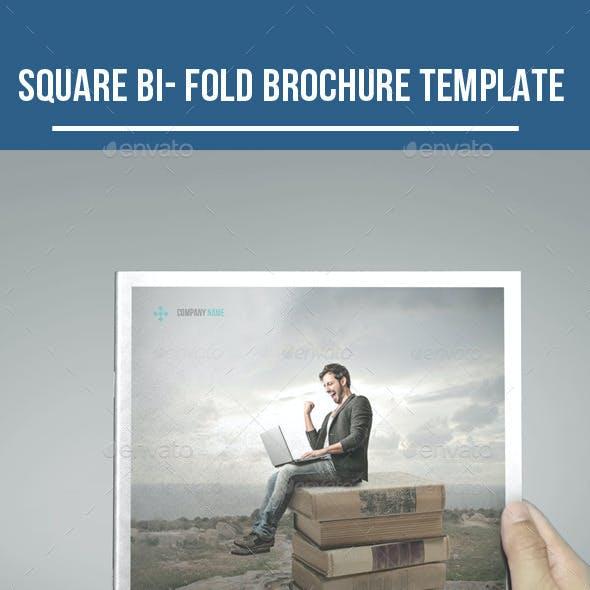 Square Bi- fold Business Brochure