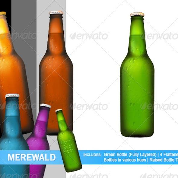Multi-Colored Beer Bottles