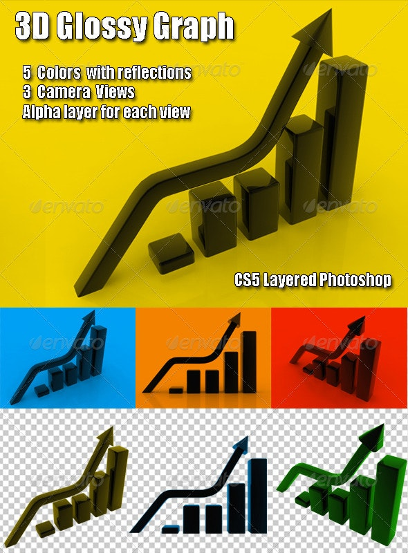 Glossy Graph - 3D Renders Graphics