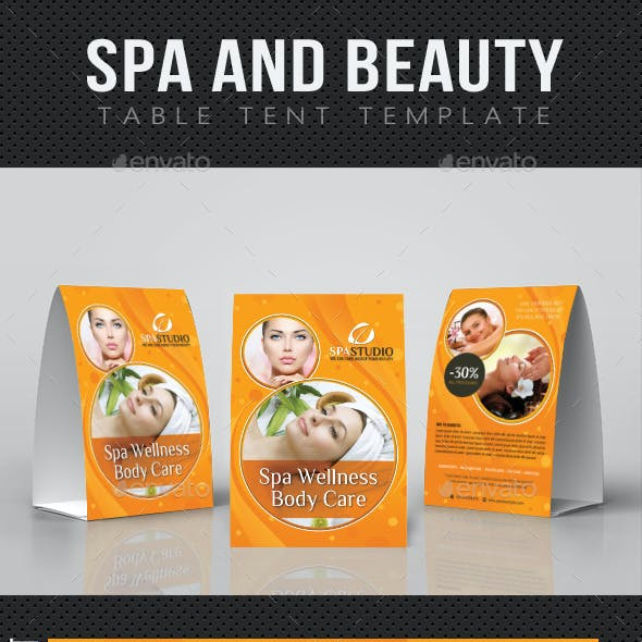Spa And Beauty Table Tent Template 06