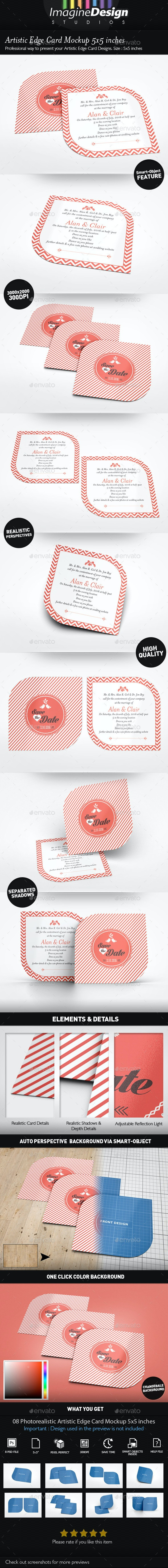 Artistic Edge Card Mockup 5x5 inches - Miscellaneous Print