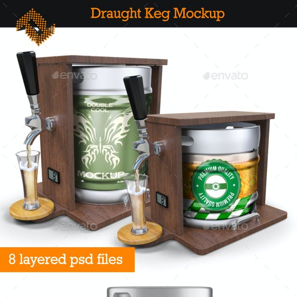 Draught Keg / Beer Package Mockup