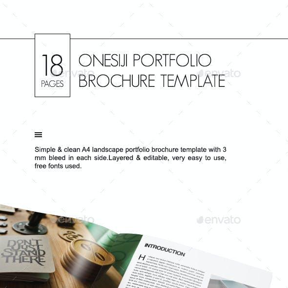Onesiji Portfolio Brochure Template