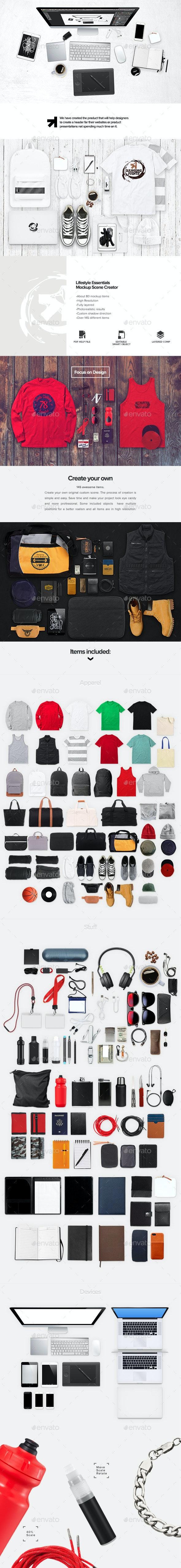 Apparel Lifestyle Essentials Mockup Creator - Miscellaneous Product Mock-Ups