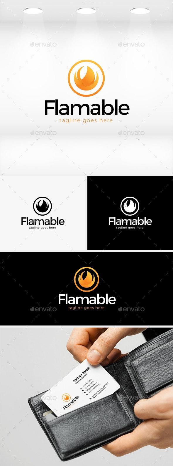 Flamable Logo - Symbols Logo Templates