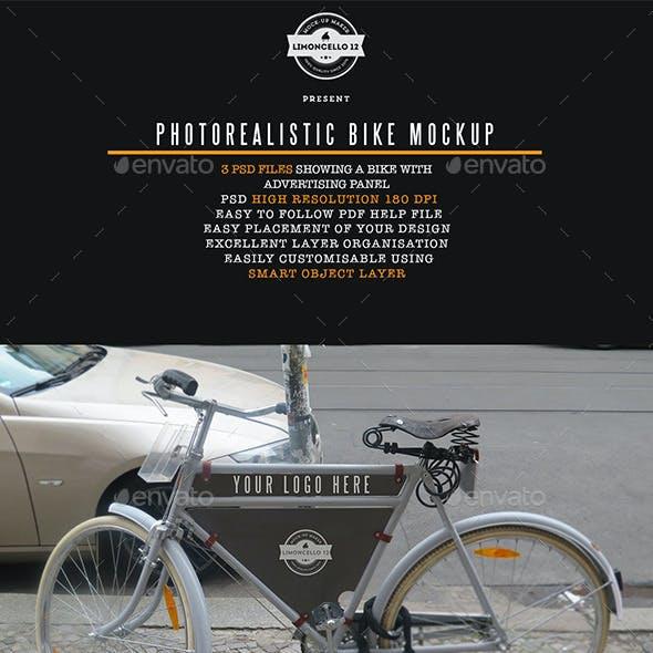 Photorealistic Bike Advertising Mockup