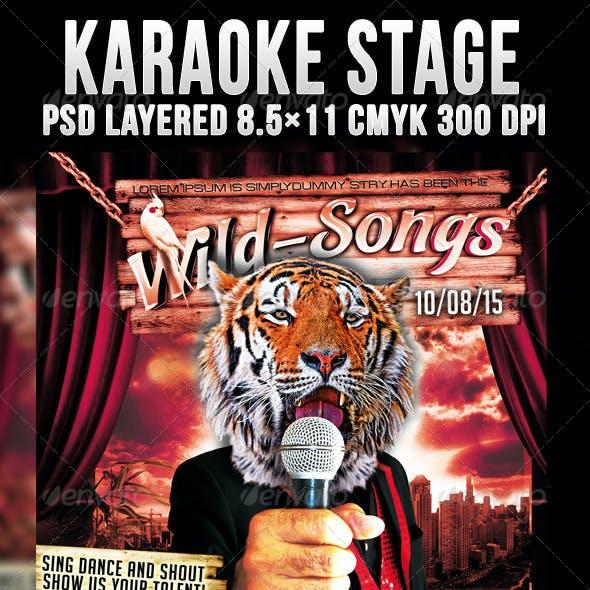 Karaoke Stage Flyer