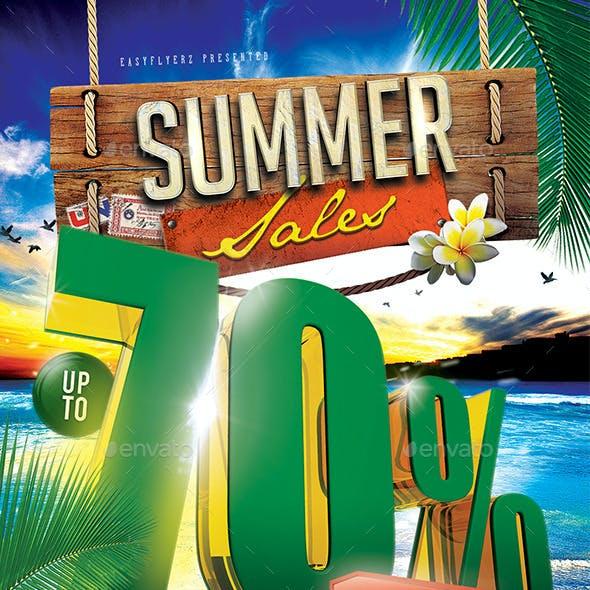 Summer Sales Flyer Template