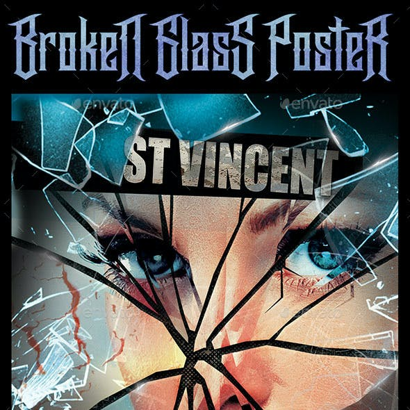 Smashed Glass Event Poster