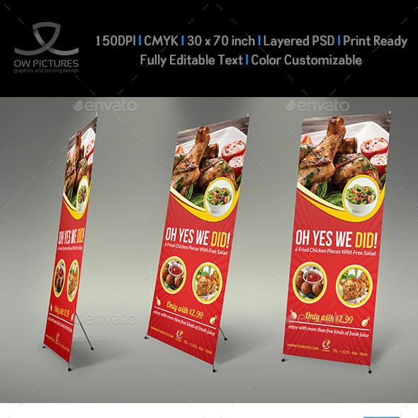 Restaurant Rollup Signage Template Vol3